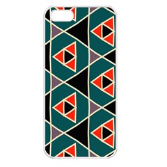 Triangles in retro colors pattern			Apple iPhone 5 Seamless Case (White)