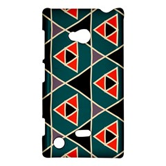 Triangles in retro colors pattern			Nokia Lumia 720 Hardshell Case