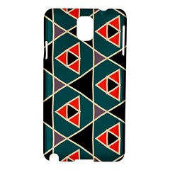Triangles in retro colors patternSamsung Galaxy Note 3 N9005 Hardshell Case