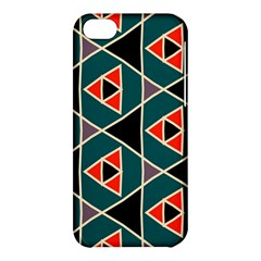 Triangles in retro colors pattern			Apple iPhone 5C Hardshell Case