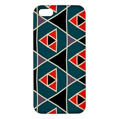 Triangles in retro colors pattern			iPhone 5S Premium Hardshell Case