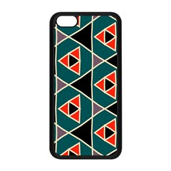 Triangles in retro colors pattern			Apple iPhone 5C Seamless Case (Black)