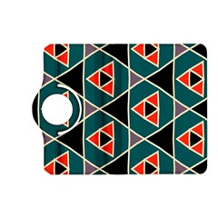Triangles in retro colors patternKindle Fire HD (2013) Flip 360 Case