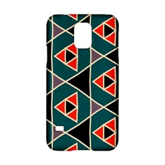 Triangles In Retro Colors Pattern			samsung Galaxy S5 Hardshell Case