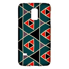 Triangles in retro colors patternSamsung Galaxy S5 Mini Hardshell Case