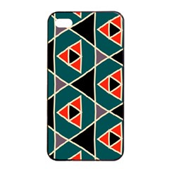 Triangles in retro colors patternApple iPhone 4/4s Seamless Case (Black)