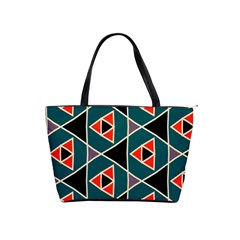 Triangles in retro colors pattern Classic Shoulder Handbag