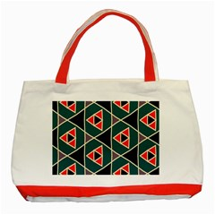 Triangles in retro colors pattern			Classic Tote Bag (Red)