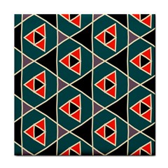 Triangles In Retro Colors Patternface Towel