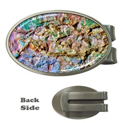 Abstract Background Wall 1 Money Clips (Oval)