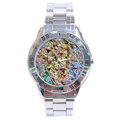 Abstract Background Wallpaper 1 Stainless Steel Men s Watch
