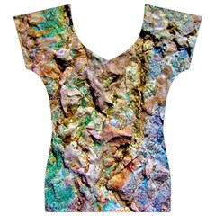 Abstract Background Wallpaper 1 Women s V-Neck Cap Sleeve Top