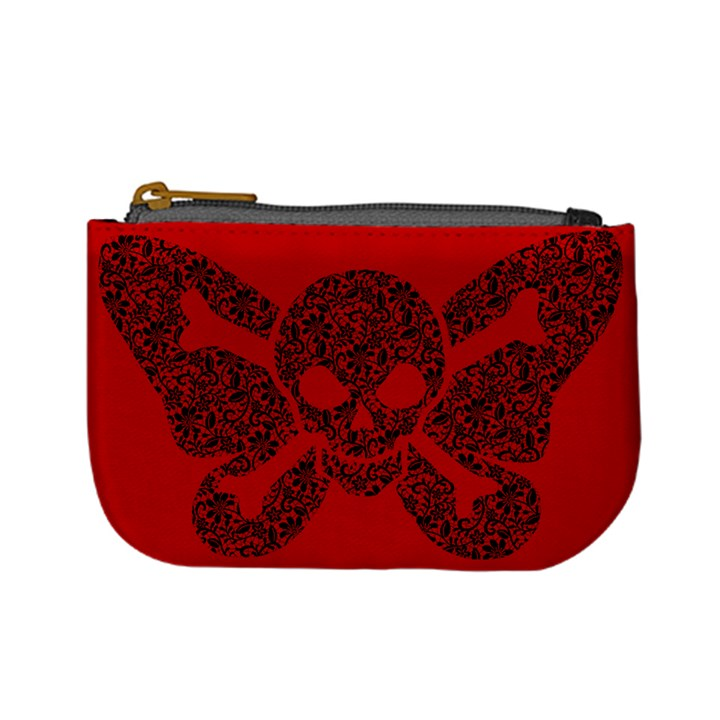 Lacy Skull Coin Change Purse