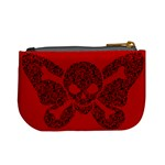 Lacy Skull Coin Change Purse Back