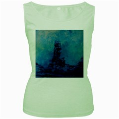 Lost At Sea Women s Green Tank Tops
