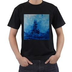 Lost At Sea Men s T-Shirt (Black) (Two Sided)