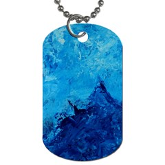 Waves Dog Tag (One Side)