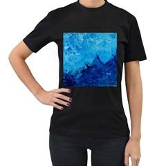Waves Women s T-Shirt (Black)