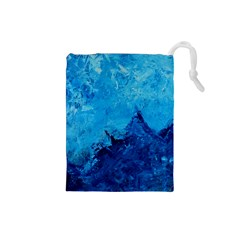 Waves Drawstring Pouches (Small)