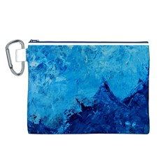 Waves Canvas Cosmetic Bag (L)
