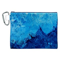 Waves Canvas Cosmetic Bag (XXL)