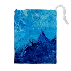 Waves Drawstring Pouches (Extra Large)