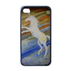 Unicorn In The Sky  Apple iPhone 4 Case (Black)