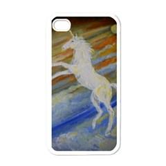 Unicorn In The Sky  Apple iPhone 4 Case (White)