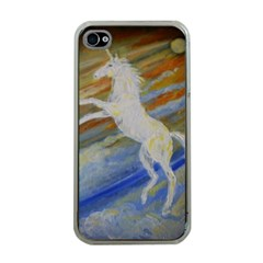 Unicorn In The Sky  Apple iPhone 4 Case (Clear)