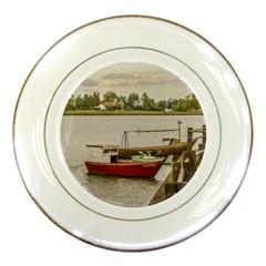 Santa Lucia River In Montevideo Uruguay Porcelain Plates