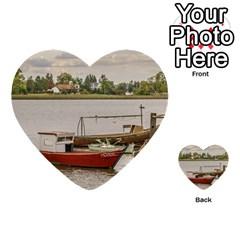 Santa Lucia River In Montevideo Uruguay Multi-purpose Cards (Heart)
