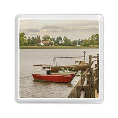 Santa Lucia River In Montevideo Uruguay Memory Card Reader (Square)