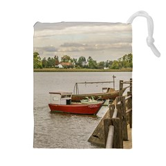 Santa Lucia River In Montevideo Uruguay Drawstring Pouches (Extra Large)