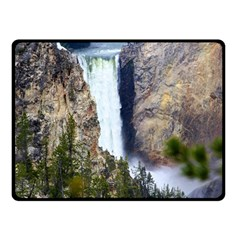 YELLOWSTONE WATERFALL Double Sided Fleece Blanket (Small)