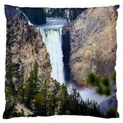 YELLOWSTONE WATERFALL Large Flano Cushion Cases (Two Sides)