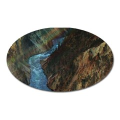 YELLOWSTONE LOWER FALLS Oval Magnet