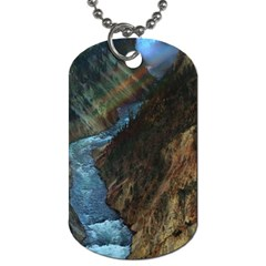 YELLOWSTONE LOWER FALLS Dog Tag (Two Sides)
