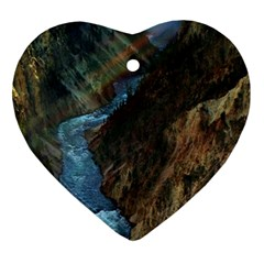 YELLOWSTONE LOWER FALLS Heart Ornament (2 Sides)