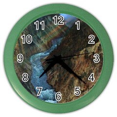 YELLOWSTONE LOWER FALLS Color Wall Clocks