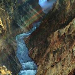Yellowstone Lower Falls Magic Photo Cubes