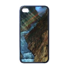 YELLOWSTONE LOWER FALLS Apple iPhone 4 Case (Black)