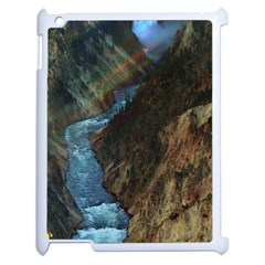 YELLOWSTONE LOWER FALLS Apple iPad 2 Case (White)