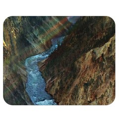 Yellowstone Lower Falls Double Sided Flano Blanket (medium)