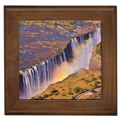 WATERFALL AFRICA ZAMBIA Framed Tiles