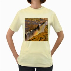 Waterfall Africa Zambia Women s Yellow T Shirt