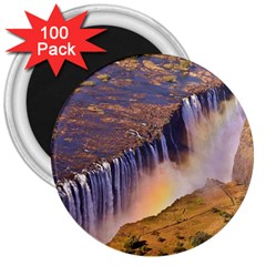 WATERFALL AFRICA ZAMBIA 3  Magnets (100 pack)