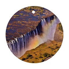 WATERFALL AFRICA ZAMBIA Round Ornament (Two Sides)
