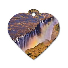 WATERFALL AFRICA ZAMBIA Dog Tag Heart (Two Sides)