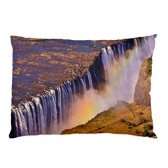 Waterfall Africa Zambia Pillow Cases