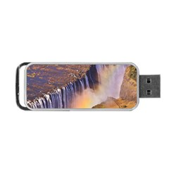 WATERFALL AFRICA ZAMBIA Portable USB Flash (Two Sides)